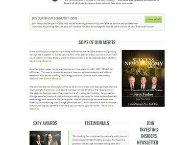 Stock Trader website