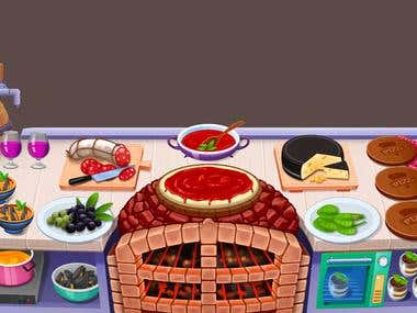 Cooking Game Graphics Design