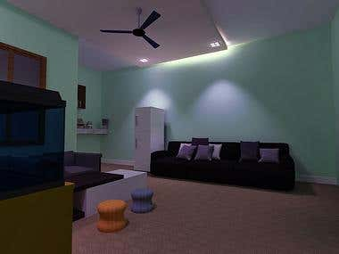 Interior modelling and render