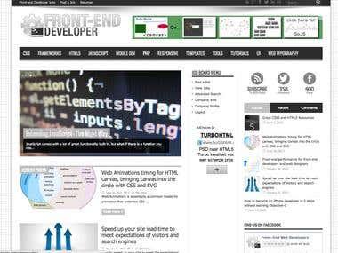 Front End Developer Wordpress Blog
