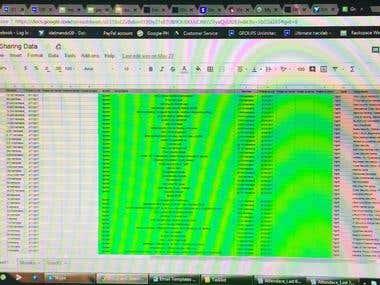 Data Entry using Google Sheet