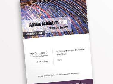A4 POSTER FOR ART EXHIBITION - for printing