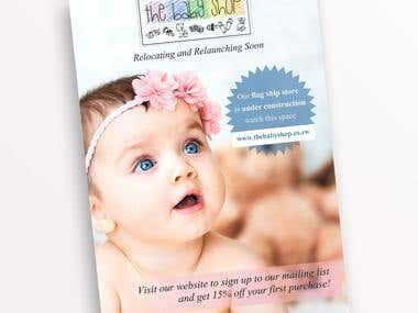 BABY SHOP FLYER - for printing