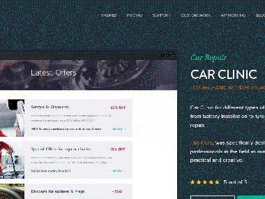 Car Clinic Web Design