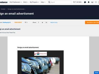 Design a email advertisement