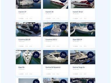 Boat Rental wordpress site