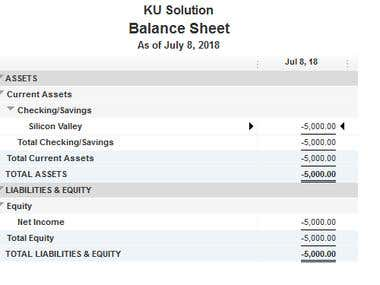 Quickbook Desktop Balance Sheet