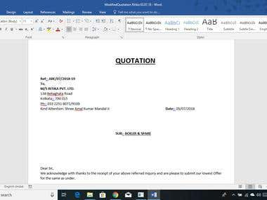 Quotation in MS word