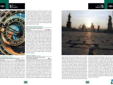 Guide Book: Avant Guide Prague Inside Spread & Table and Map