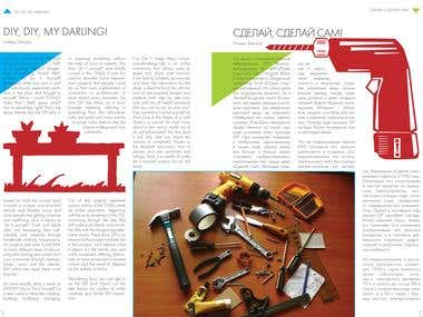 Magazine Article spread: Youth Time, DIY