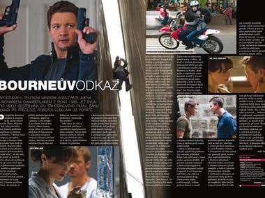 Magazine Article spreads: Cinema 09.12. and 02.13. Premiery
