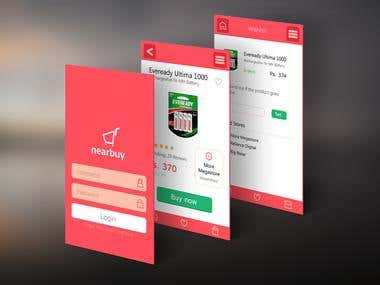 Mobile App screen Design