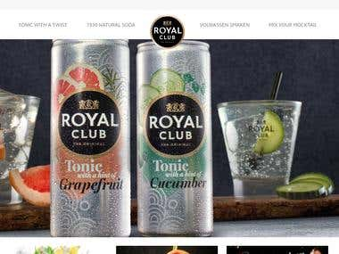 Royal Club Cold Drinks Company Website