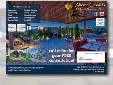 Altered Grounds Landscaping Brochure Design Entry #1