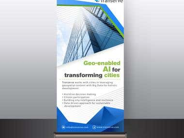 STANDEE FOR A TECHNOLOGY COMPANY