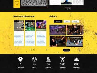 Fitness Website
