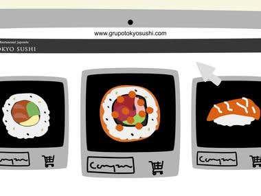 Animación Tokyo Sushi
