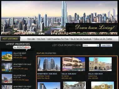 Complete web design, admin panel control