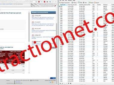 Bursamalaysia.com - Web scraping and custom program