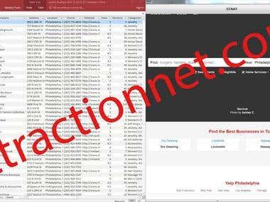 Yelp.com - Web scraping