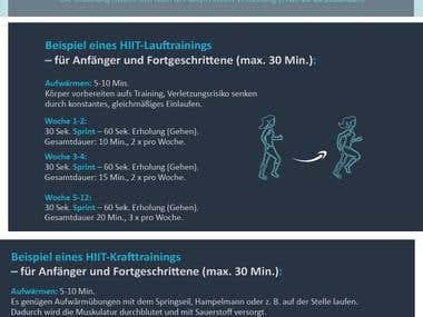 Infografik HIIT – High Intensity Interval Training