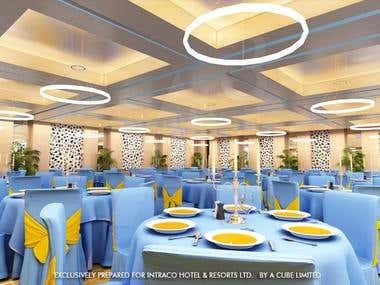 interior of an banquet hall
