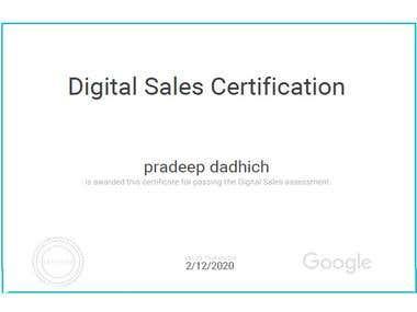 Digital Marketing Certificate of Google