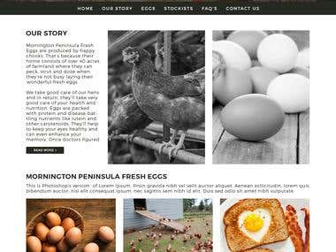 Basic WordPress website for Mornington Peninsula Fresh Eggs