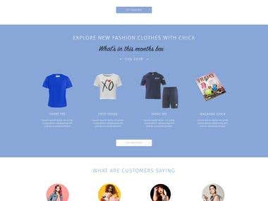 Online ecommerce shop design