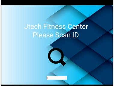 Gym Membership Application that uses barcode scanner