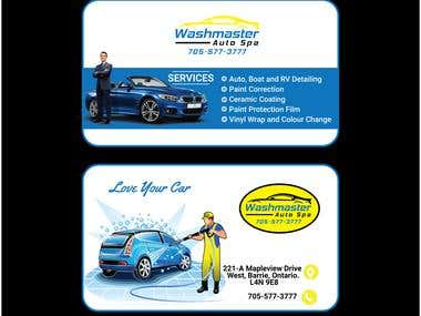 Car Wash Service business card design