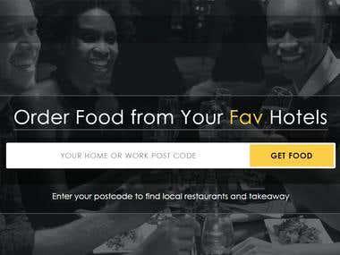 Data entry in food ordering website