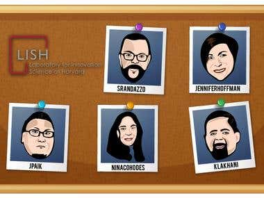 Group caricature design