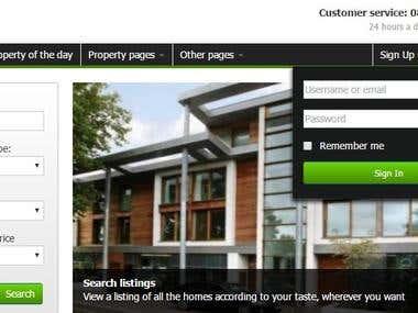 .Net Portal for Real Estate