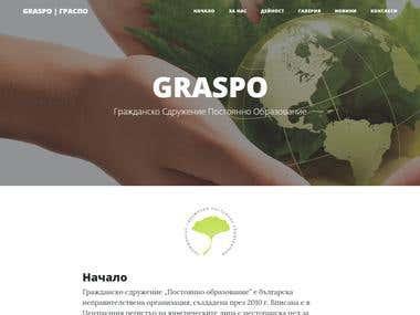 GRASPO - A free website for a local Non-Profit Organization