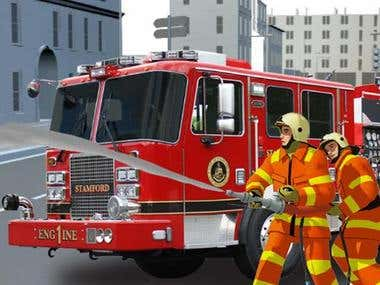 FIREFIGHTER EMERGENCY RESCUE SIMULATOR