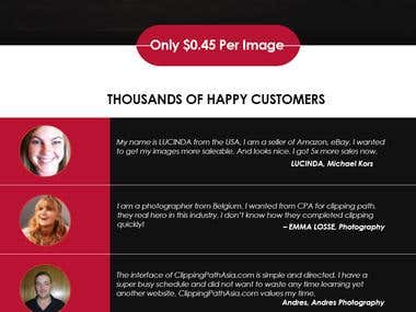 Website layout PSD