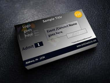 Sample Ticket/Entry Card