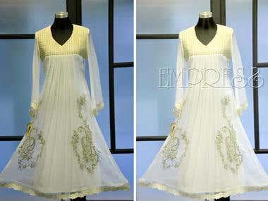 Transparent water mark add on dress