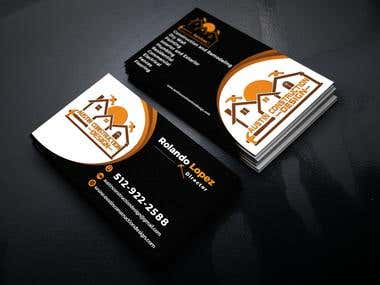 Business Card For Construction Design Company