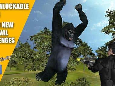 Gorilla Animal Hunting