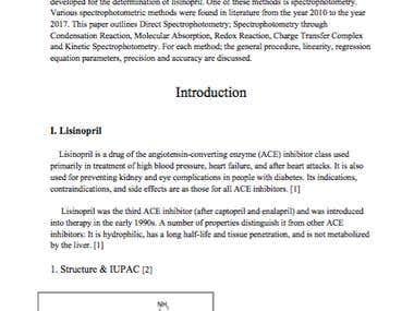 Spectrophotometric determination of lisinopril
