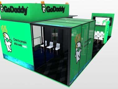 GoDaddy 12x6m Stand