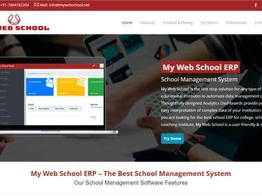Front and Back End website