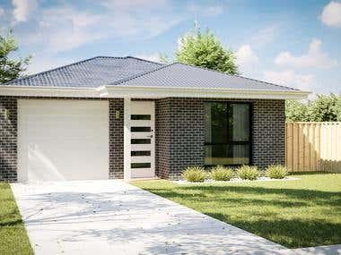 Australia house facade rendering