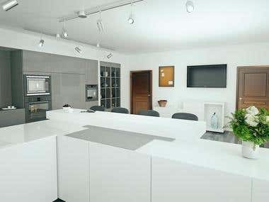 Kitchen rendering project