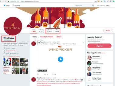 WinePicker - Twitter Achievements | SMO