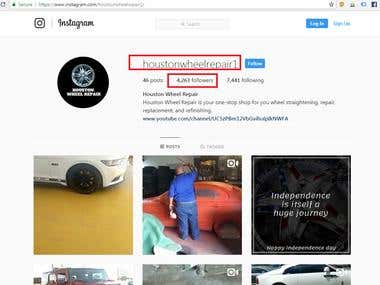 HoustonWheelRepair - Instagram Achievements | SMO