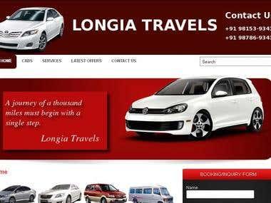 Longia Travels Website