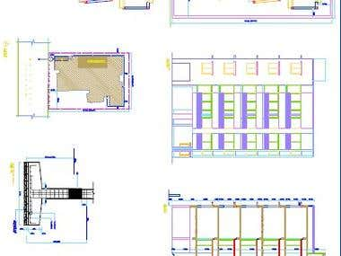 Commercial Building Drawing with Auto Cad 2D.